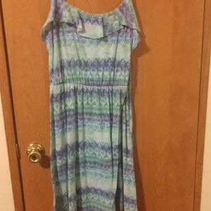 Aztec blue and green gradient dress